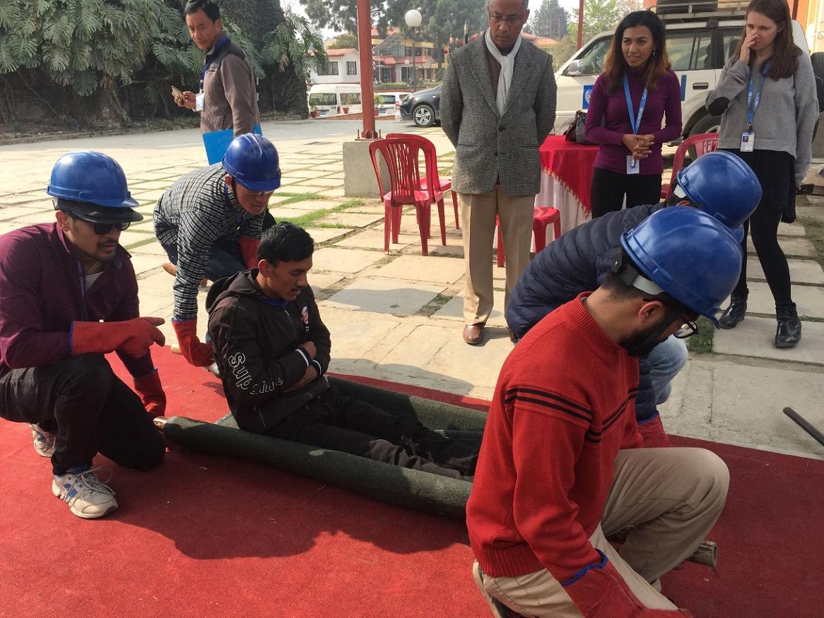 Earthquake Preparedness Training (EQPT) at UNDSS UN House Pulchowk, Lalitpur